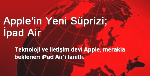 Apple'in Yeni Süprizi; İpad Air