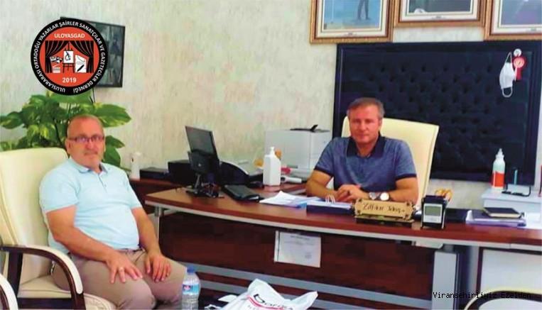 Dernek Başkanımız Mehmet Kayık Avrupa Kalite Etiketi Ödülü Almış Mersin Yenişehir Necdet Ülger İlkokulu Müdürü Zülfikar Tekin'i Makamında Ziyaret  Etti