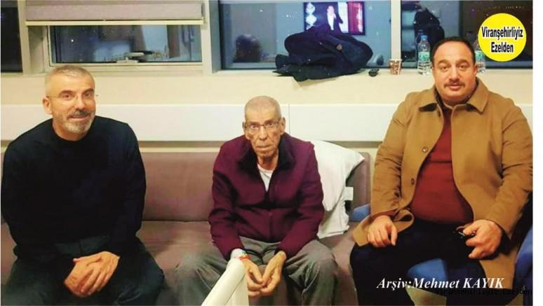Hacı Menduh Şehmusoğlu Hastalığı Sebebiyle Ankara'da Hastanede Tedavi Görmekte iken, Viranşehir Belediye Başkanı Salih Ekinci Ziyaretine Giderek Geçmiş olsun dileklerinde bulundu