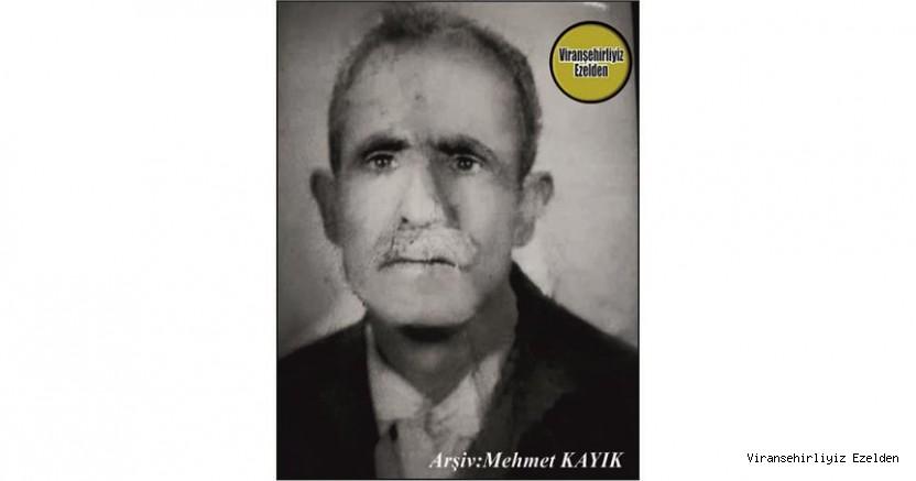 Hemşehrimiz  1 Kasım 1995 Günü Vefat etmiş, Viranşehir'de Yıllarca Esnaflık yapmış, Sevilen İnsan Merhum Hamza Kaya