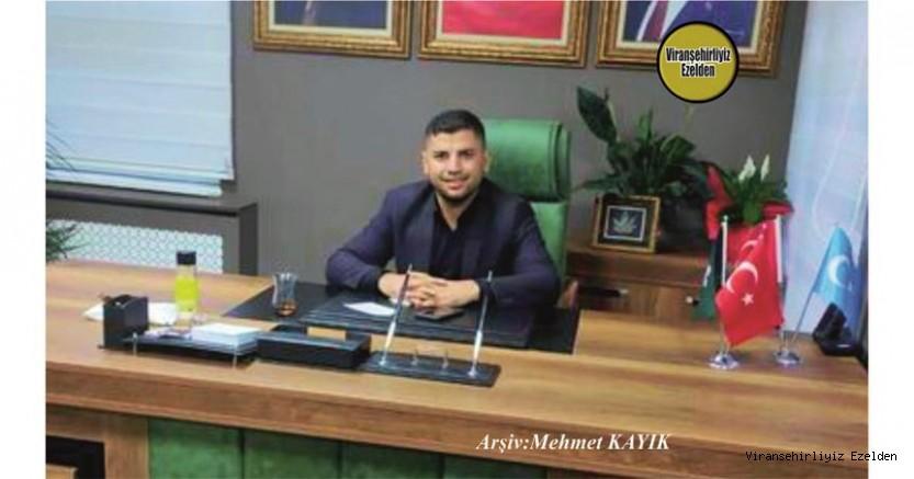 Hemşehrimiz Gelecek Partisi Viranşehir Kurucu İlçe Başkanı Mehmet Koşar