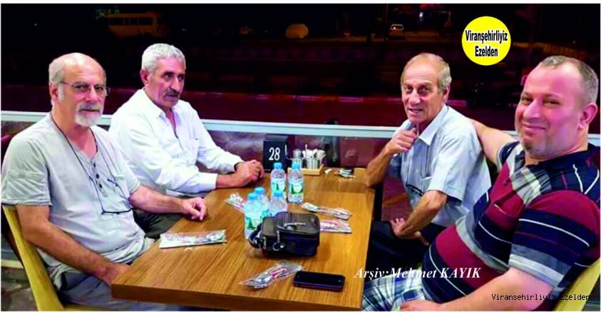 Hemşehrimiz İzmir'de yaşayan Emekli Öğretmen Mehmet Küçük, Ekrem Karakaya, Faik Aslandağ ve Abdulkadir Küçük
