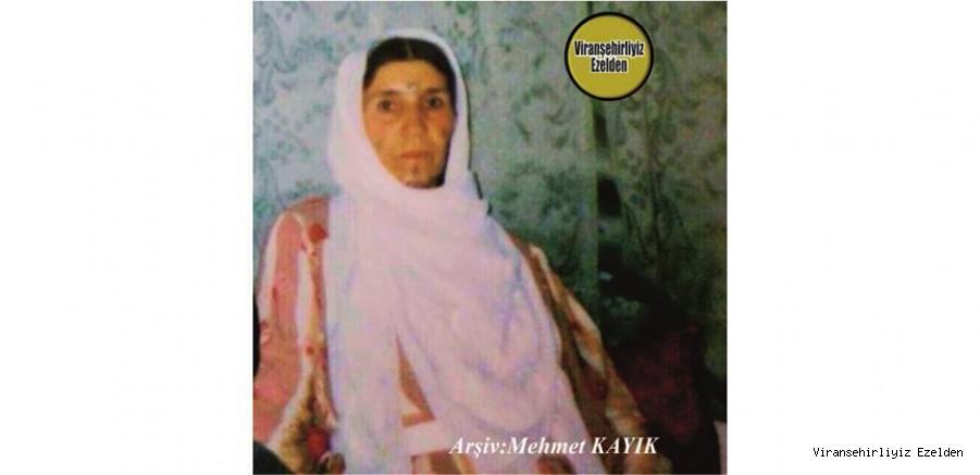 Hemşehrimiz Ölüm Yıldönümü olan, 01 Nisan Günü Vefat etmiş, Değerli Annelerimizden olan, Merhume Zehra Etli