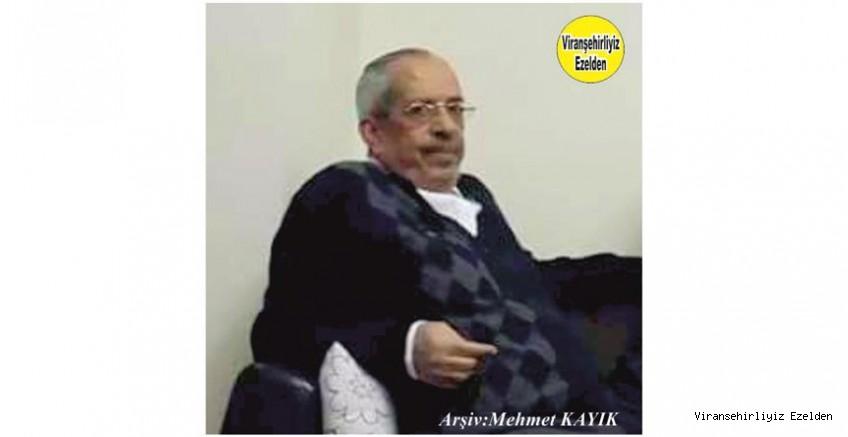Hemşehrimiz Viranşehir Belediyesi Zabıta Eski Müdürü Sevilen İnsan Merhum Abdulhamit Ersoy