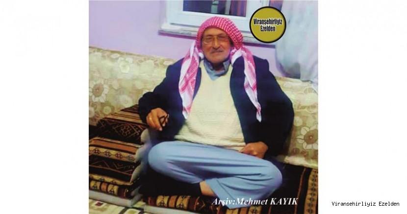 Hemşehrimiz Viranşehir'de  02 Aralık 2020 Günü Vefat etmiş, Merhum Hacı Ahmet Varan