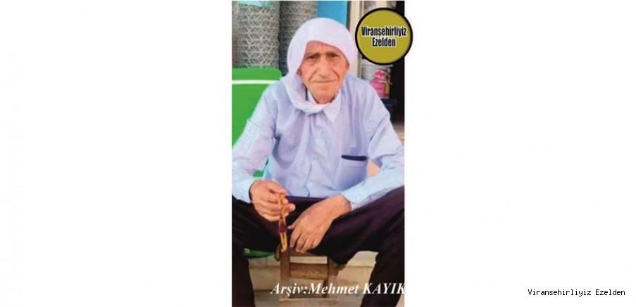 Hemşehrimiz Viranşehir'de 20 Mart 2021 Günü Vefat etmiş, Sevilen İnsan Merhum Ali Görür