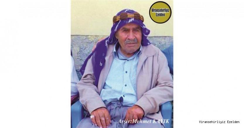 Hemşehrimiz Viranşehir'de 26 Ağustos 2020 Günü Vefat etmiş, Merhum Cuma Cabaz