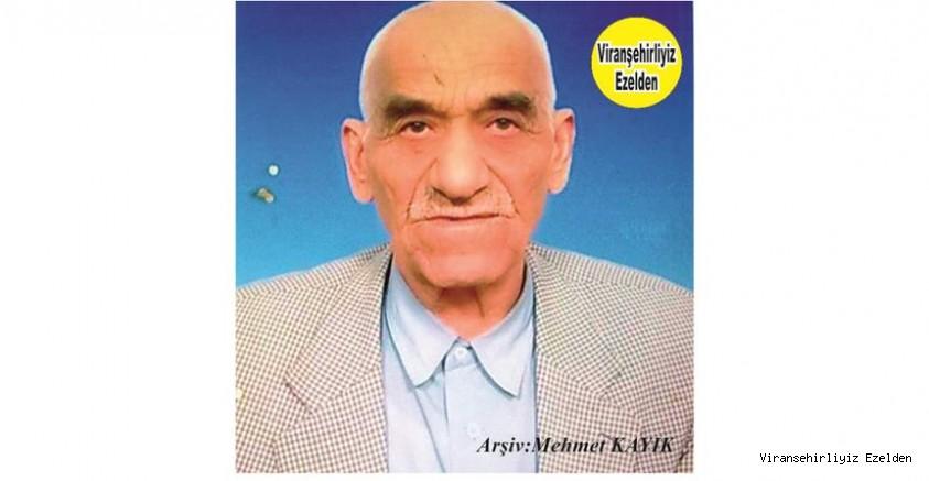 Hemşehrimiz Viranşehir'de Aliyê Caso olarak Tanınan Merhum Ali Çelebi