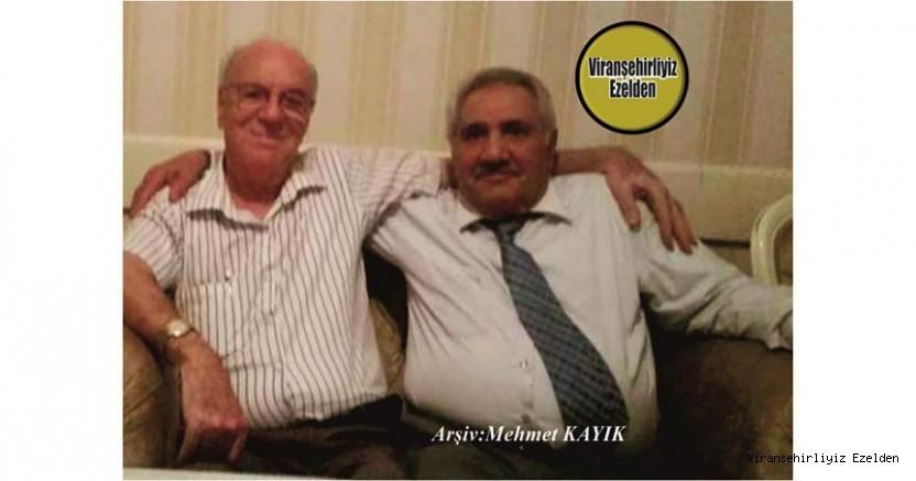 Hemşehrimiz Viranşehir'de Beyefendi Kişilikleri Sevilen, Sayılan İyi İnsanlarımızdan olan Hacı Suphi Akışık ve Hacı Mehmet Kaya