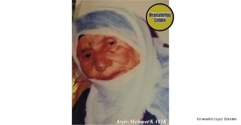 Hemşehrimiz Viranşehir'de Değerli Evlatlar Yetiştirmiş, Sevilen Annelerimizden olan, Merhume Hacı Gûlê Diken