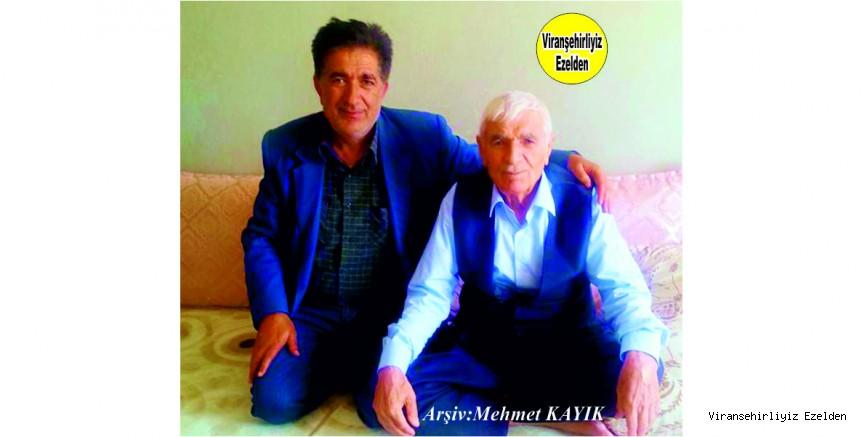 Hemşehrimiz Viranşehir'de Fırıncı Feyzi olarak tanınan Feyzi Etrez ve Babası Eyyüp Etrez
