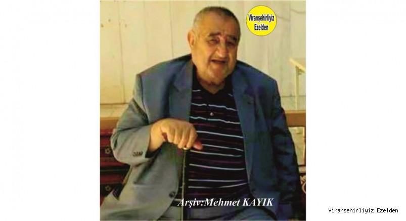 Hemşehrimiz Viranşehir'de Keko Dayı olarak tanınan Merhum Abdulkadir Bayoğlu