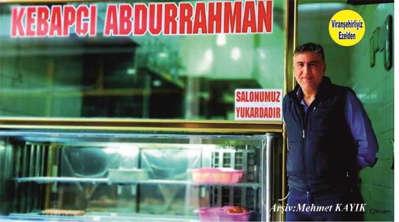 Hemşehrimiz Viranşehir'de Lokanta İşletmeciliği yapan, Dürüst Esnaf Abdurrahman Serin