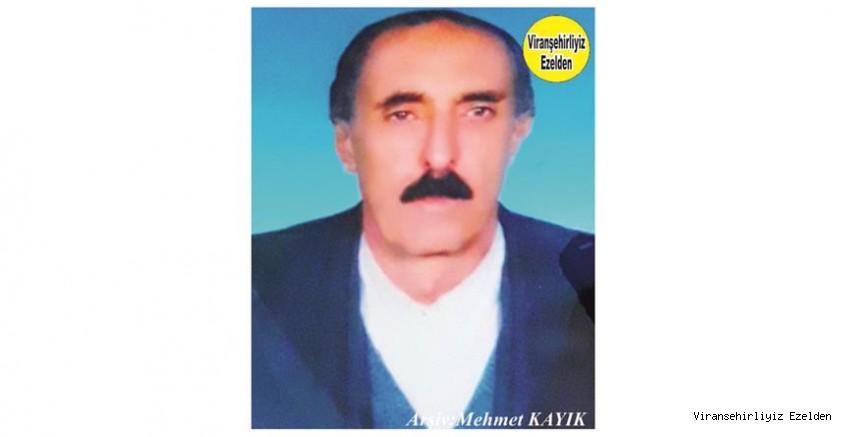 Hemşehrimiz Viranşehir'de Sevilen değerlerimizden olan, Merhum Abdulkadir İper