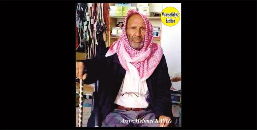 Hemşehrimiz Viranşehir'de Vefat etmiş, Ape Ali olarak tanınan, Sevilen İnsan Merhum Ali Talay