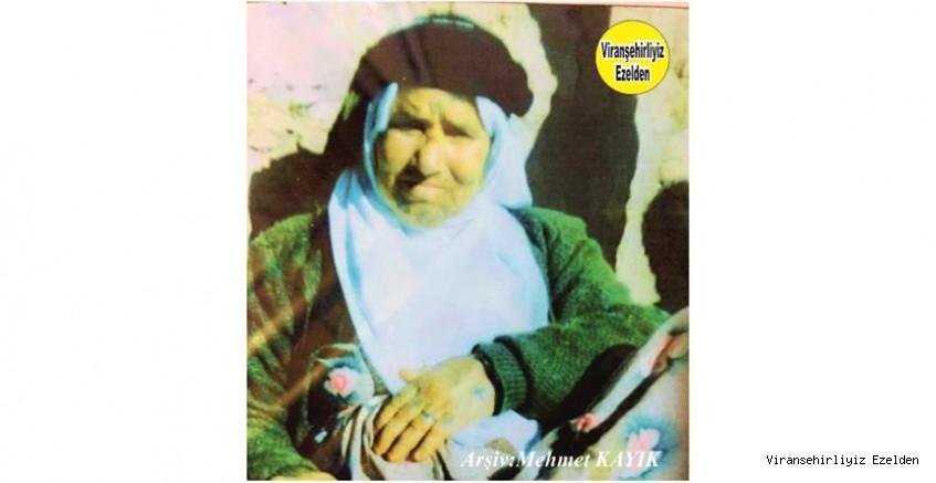 Hemşehrimiz Viranşehir'de Vefat etmiş, Değerli Annelerimizden olan Merhume Adul Sarıoğlu