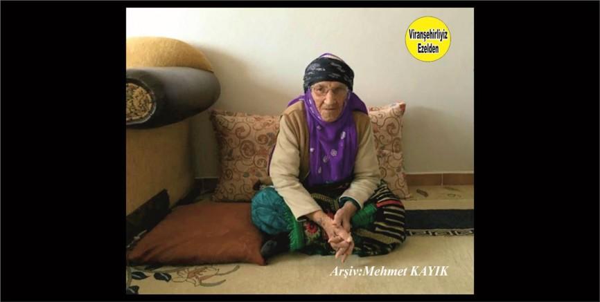 Hemşehrimiz Viranşehir'de Vefat etmiş, Değerli Annelerimizden olan, Merhume Ayşe Başkan