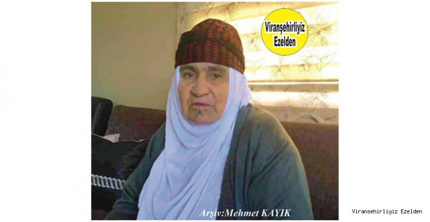 Hemşehrimiz Viranşehir'de Yakın zamanda Vefat etmiş, Değerli Annelerimizden olan, Merhume Hacı Emine Kaya