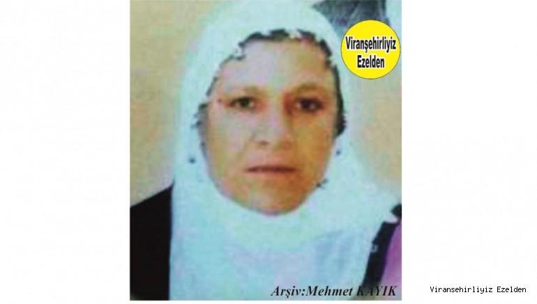 Hemşehrimiz Viranşehir'de Yakın zamanda Vefat etmiş, Değerli Annelerimizden olan, Merhume Safiye Baybostan(Akmeşe)