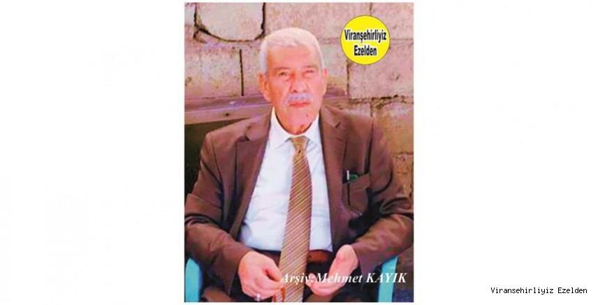 Hemşehrimiz Viranşehir'de Yakın zamanda Vefat etmiş, Sevilen İnsan Merhum Hacı Menduh Şehmusoğlu