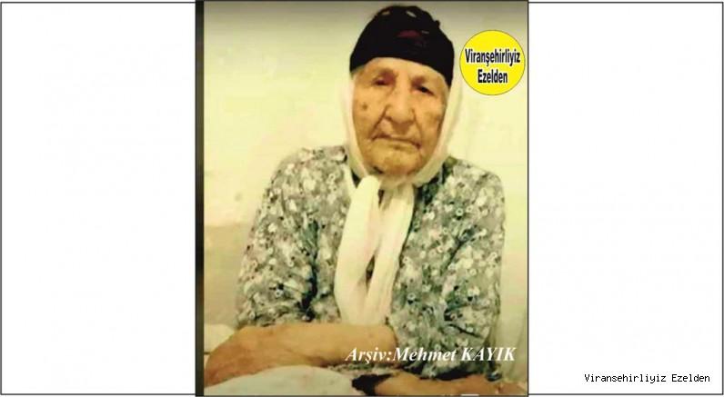 Hemşehrimiz Viranşehir'de yakın zamanda Vefat etmiş, Sevilen İnsan Merhume Gülçin Delek