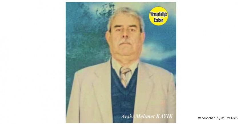 Hemşehrimiz Viranşehir'de Yıllarca Çiftçilik yapmış, Sevilen İnsan Merhum Hamis Sarmaca