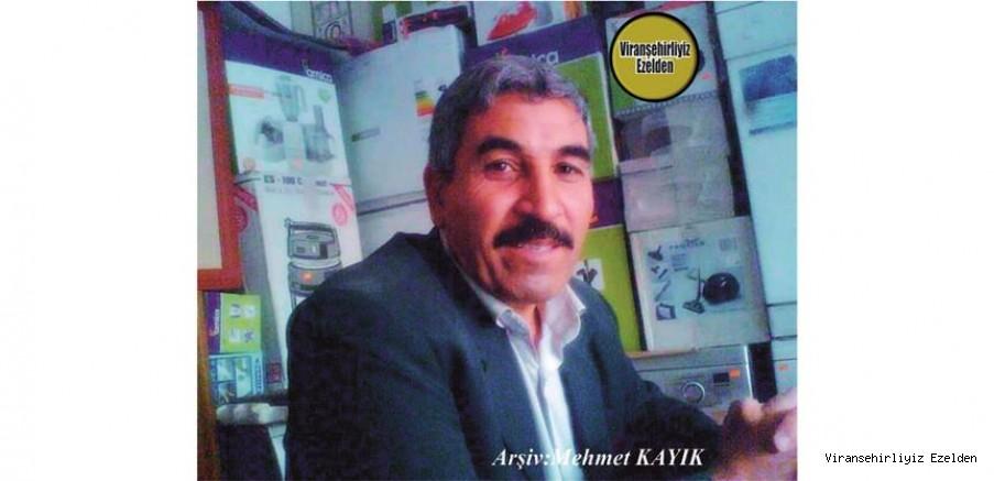 Hemşehrimiz Viranşehir'de Yıllarca Esnaflık yapmış, Sevilen İnsan Merhum Mehmet Yıldız
