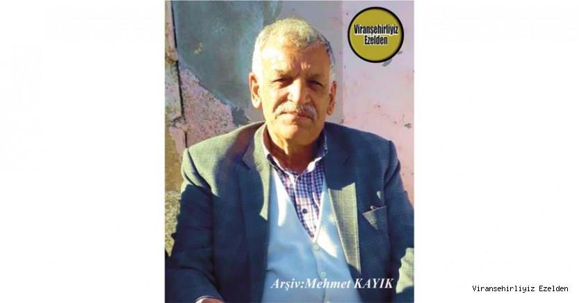Hemşehrimiz Viranşehir'de Yıllarca Kanaat Önderliği yapmış, Açık Sözlü Sevilen, Sayılan İnsan Nezir Öztop