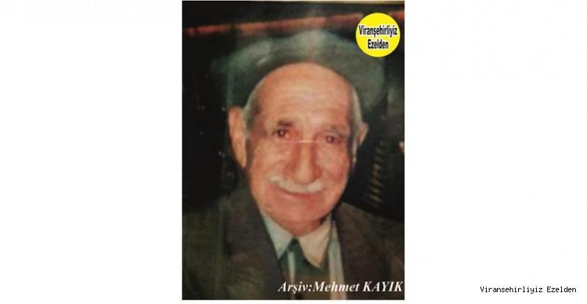 Hemşehrimiz Viranşehir'de Yıllarca Yemek Sektöründe Esnaflık yapmış, Sevilen Değerli İnsan Merhum Mehmet Badem(Muhammede Kulli)