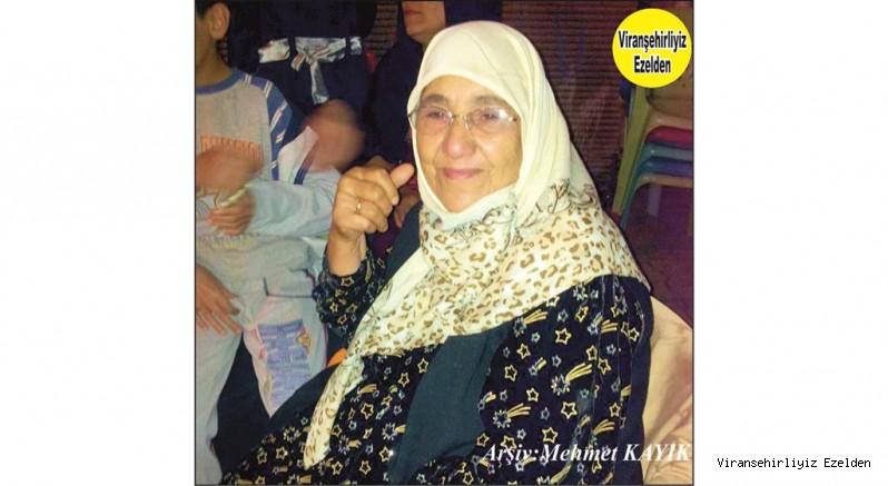 Hemşehrimiz Viranşehir'e Yararlı Evlatlar Yetiştimiş, Sevilen Değerli Annelerimizden olan  Merhume Münevver Vurgun