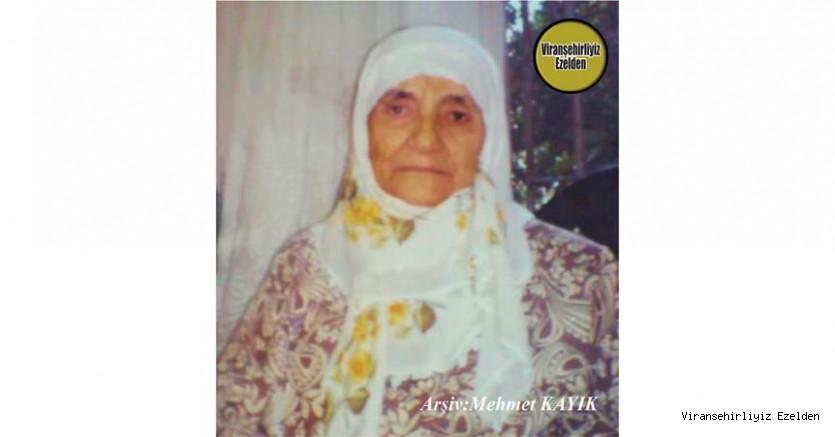 Hemşehrimiz Yakın Zamanda Vefat etmiş, Viranşehir'de Sevilen Değerli Annelerimizden olan, Merhume Beşire Milkar