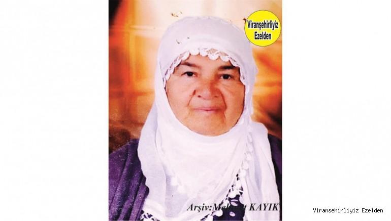 Ölüm Yıldönümü olan, 12 Ocak 2020 Günü Vefat etmiş Viranşehir'de Sevilen Değerli Annelerimizden olan, Merhume Sultanî Ayyıldız