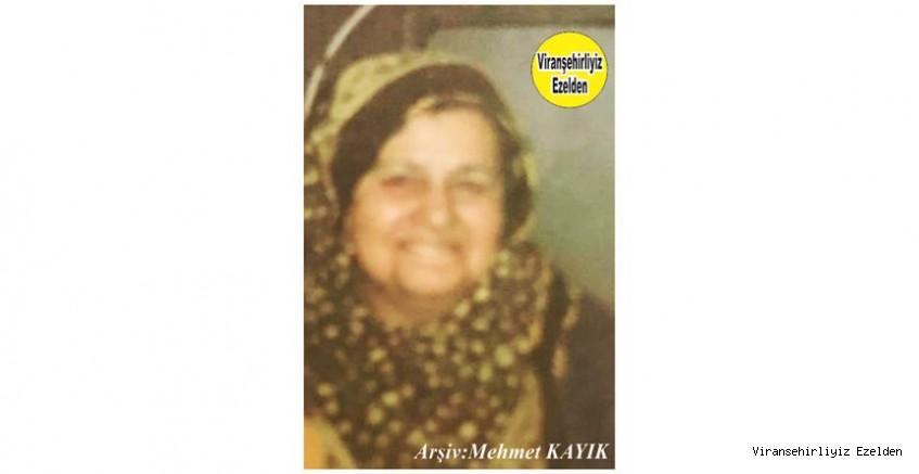 Ölüm Yıldönümünde  Viranşehir'de Esnaflık yapmış Merhum Hacı Aziz İncir'in Eşi, Sevilen İnsan Merhume Mahide İncir