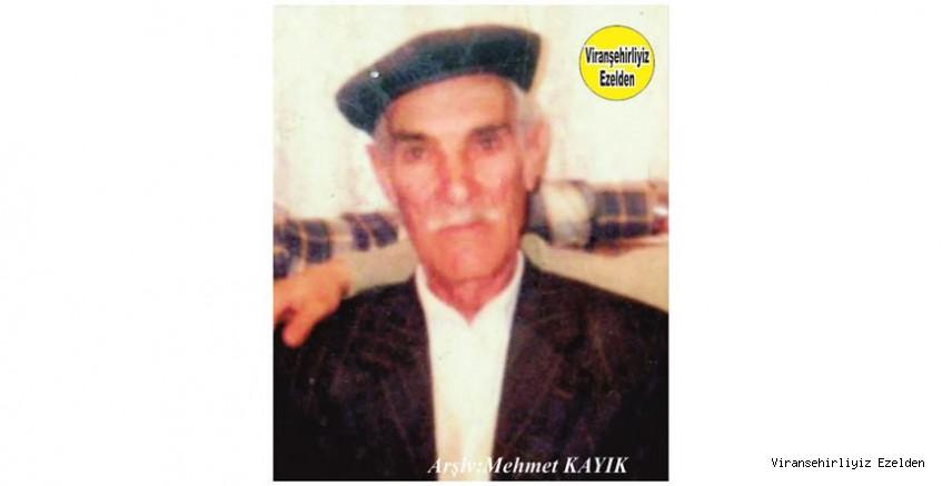 Ölüm Yıldönümünde Viranşehir'de Yıllarca Çiftçilik yapmış, Sevilen İyi İnsan Merhum Hacı Mehmet Çetin