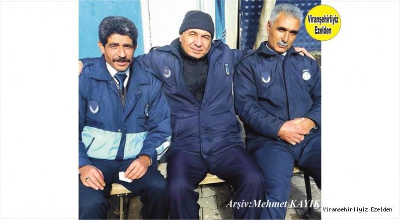 Viranşehir Belediye Zabıta Memurlarından Seyithan Çelik, Ramazan Yavuzkaplan ve Emekli Zabıta Komiseri Maruf Yağan