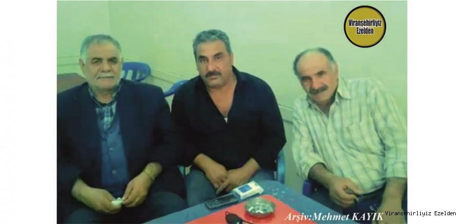 Viranşehir Belediyesi Eski Personellerinden olan, Merhum Eyyüp Gör, Kardeşleri Cemal Gör ve Celal Gör