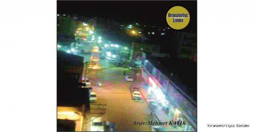 Viranşehir Cumhuriyet Meydanına Ait Gece çekilmiş Bir Fotoğraf