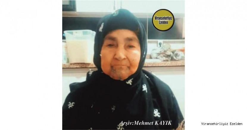 Viranşehir'de 26 Ekim 2020 Günü Vefat etmiş, Değerli Annelerimizden Olan Merhume Hacı Rahime Köroğlu