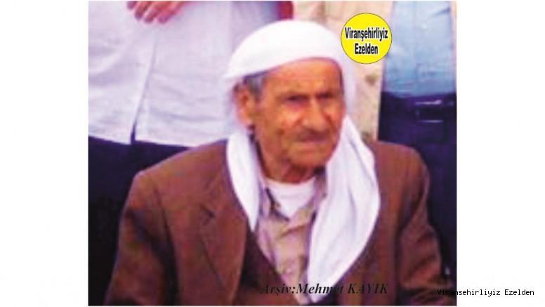 Viranşehir^de Abbas Imyana olarak Tanınan Dava Adamı ve Kanaat Önderi Merhum Hacı Abbas Bayram