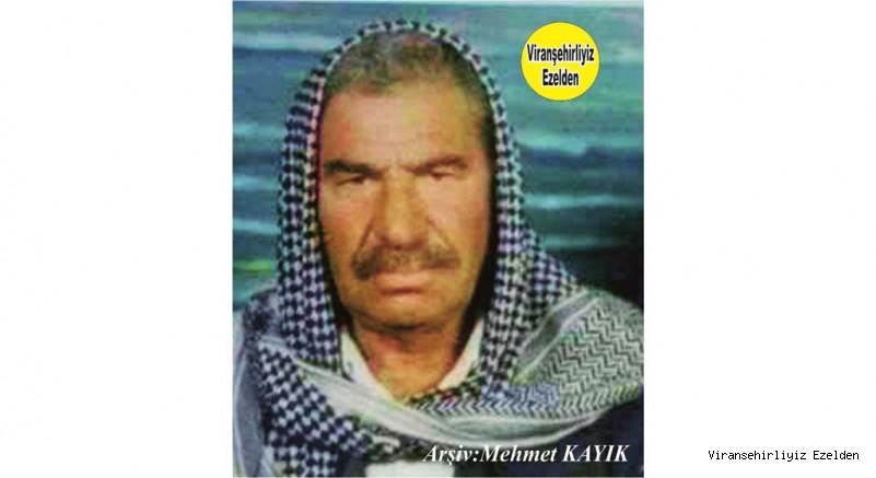 Viranşehir'de Cesareti ve Yiğitliği herkes tarafından konuşulan Değerli İnsan Merhum Sinan Karakaş