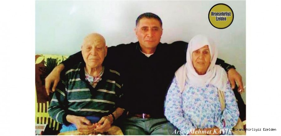 Viranşehir'de Doktor Halil olarak tanınan Merhum Halil Yıldız, Eşi Hamiyet Yıldız ve Oğlu Mehmet Yıldız