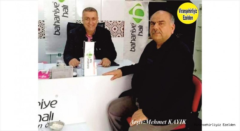 Viranşehir'de Esnaflığa yeni adım atmış olan, Mehmet Adnan Ayaz ve Emekli Okul Müdürlerimizden Nusret Gönüllü