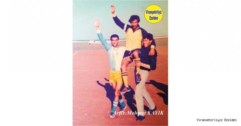 Viranşehir'de Geçmişte Futbol oynadıkları Dönemde Çok Başarılı Kaleciler Arasında Gösterilen, Dayı Feyzi Lakablı Ünlü Kalecilerimizden Feyzi Güngör, Sırrı Yolcu ve İbrahim Gelin