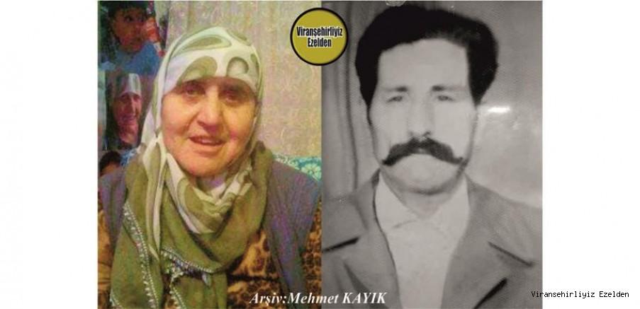 Viranşehir'de Mahro Ayıb olarak tanınan, Sevilen İnsan Merhum Eyyüp Çalman ve Eşi Merhume Necla Çalman