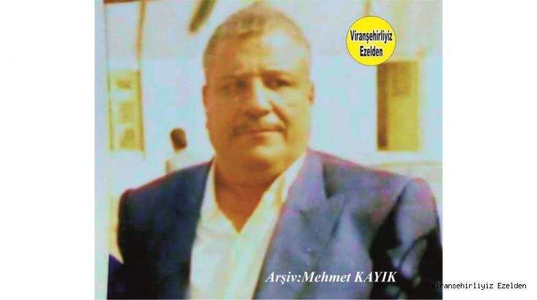 Viranşehir'de Vefat etmiş, Muhtar olarak tanınan, Sevilen Güzel İnsan Merhum Mehmet Diken
