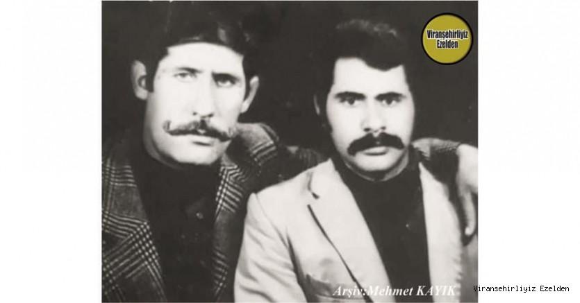 Viranşehir'de Yıllarca Esnaflık yapmış, şimdi Mersinde yaşayan, Mehmet Özcengiz(Mehmet İzol) ve Merhum Ali Karacık(Zübeyir)
