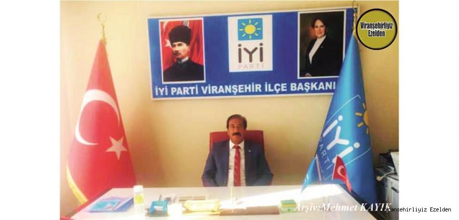 Viranşehir'de Yıllarca İlçe Nüfus Şefliği yapmış,şimdi İyi Parti İlçe Başkanı olarak görev yapan, Sevilen İnsan Başkan Süleyman Cebe