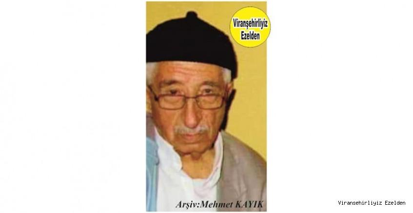 Viranşehir'de Yıllarca Kanaat Önderliği yapmış, Mellê Nızamettin olarak tanınan Sevilen Değerli İnsan Merhum Nizamettein Azdır