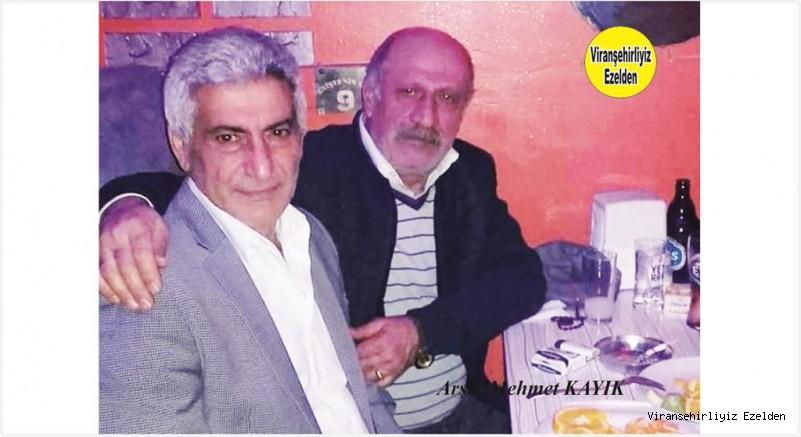 Viranşehir'de Yıllarca Öğretmenlik yapmış, Emekli Öğretmen Mehmet Yılmaz ve Değerli Dostu Ahmet Çakıcı
