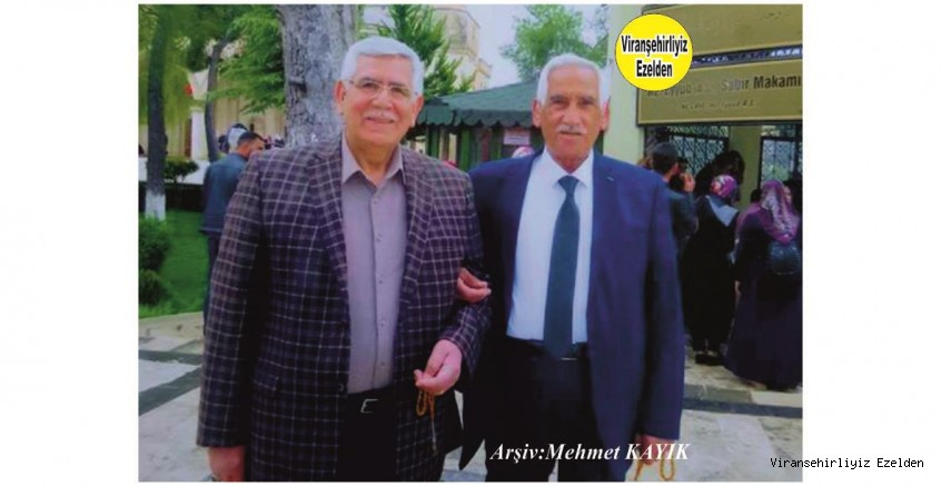 Viranşehir'de Yıllarca Öğretmenlik yapmış, Sevilen İyi İnsan Öğretmen Mustafa Alay ve Ağabeyi Hacı Sinan Alay